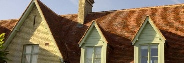 New roofwork using Lemsford Village Peg Tiles