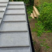 Two tiered flat roof