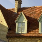 New roofwork using Lemsford Village Peg Tiles