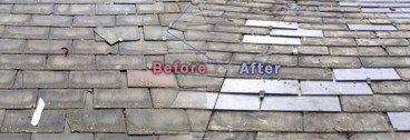 Before after roof repairs