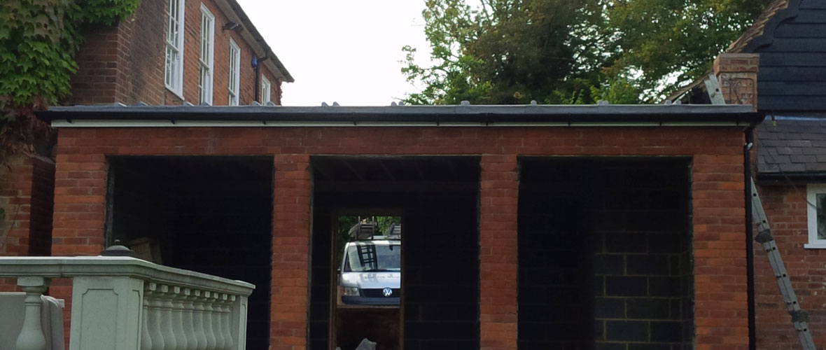 Flat roof extension