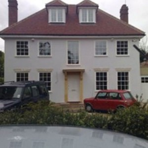 Detached house with new roofing