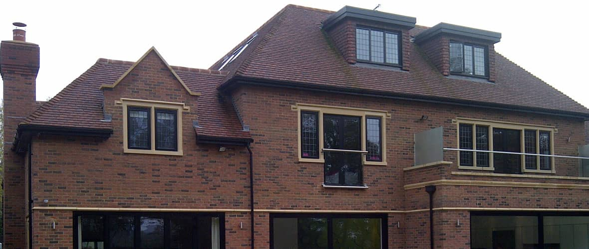 Complete new roof using Marley Ashdown bonnets, tiles and ridge