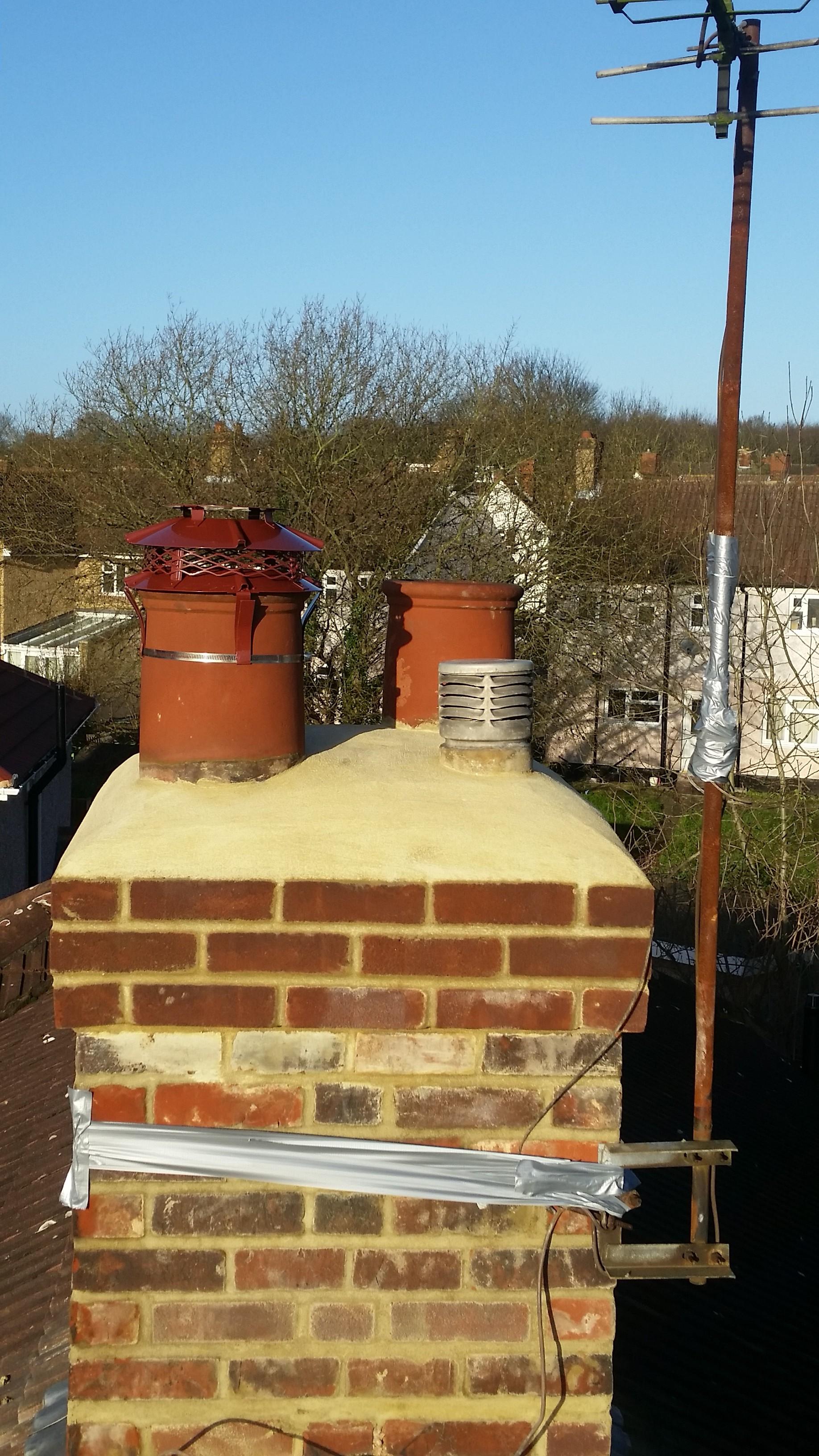 Chimney Rebuild Mr Henke Watford Top Job Roofing